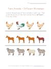 Animalsdifferentworksheet